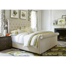 King Upholstered Sleigh Bed Bedrooms Tufted Sleigh Bed King Size Sleigh Bed Twin Bed
