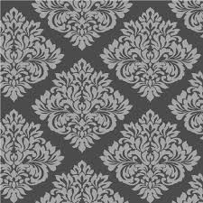 Black Damask Wallpaper Home Decor by Sparkle Damask Wallpaper By Decorline Dl40198