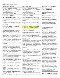 kindergarten lesson plan example