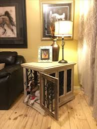 Diy End Table Dog Crate by Best 25 Dog Furniture Ideas On Pinterest Dog Crates Dog Crate