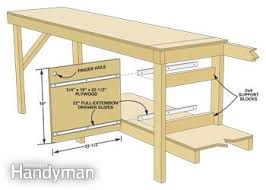5 Workbench Ideas For A Small Workshop Workbench Plans Portable by Modular Workbench Family Handyman