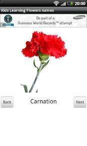 All Types Of Flowers List - kids learning flowers names android apps on google play