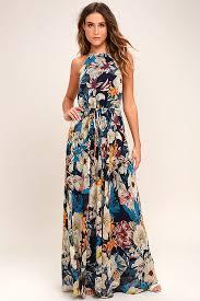 floral maxi dress lovely navy blue dress floral print dress floral maxi dress