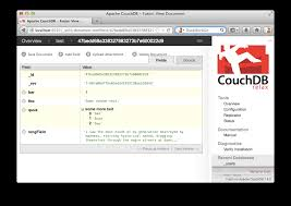 couchdb design document editor couchdb doesn t want to be your database it wants to be your web