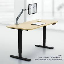 Electric Sit Stand Desk by Co Z Electric Height Adjustable Standing Desk Office Desk Sit To