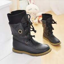 lace up moto boots fashion vintage lace up women motorcycle snow boots women