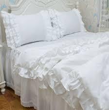 white ruffle comforter twin 10406