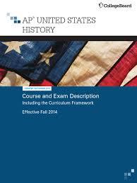 ap u s history course and exam description advanced placement