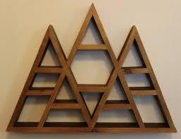 All Wood Bookshelves by Triple Peak Triangle Wood Shelf