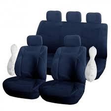 housse si e auto de siège style velours voiture auto avec ouverture air bag bleu marine