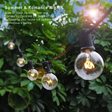 zitrades globe string lights with g40 bulbs ul listed 25ft outdoor
