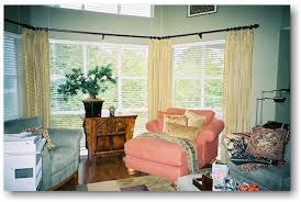 Stationary Curtain Rod Blind Alley Casual Window Treatments Portfolio