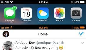 Iphone 5 Top Bar Icons New Ios 10 2 Jailbreak Tweaks Black Status Bar Emojitype