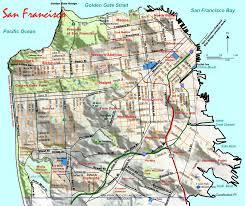 san francisco map it topographic map of san francisco mapsof net