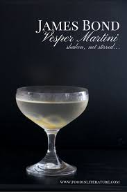 martini recipe james bond vesper martini recipe in literature