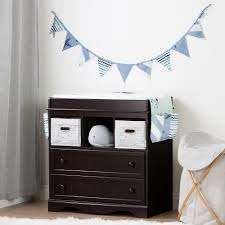 south shore savannah changing table with drawers gray maple south shore savannah espresso and blue changing table with little