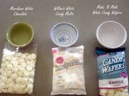 merckens chocolate vs wilton candy melts vs make n u0027 mold melting