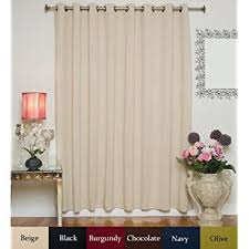 Blackout Curtains 108 Inches Amazon Com Beige Wide Width Nickel Grommet Top Thermal Insulated