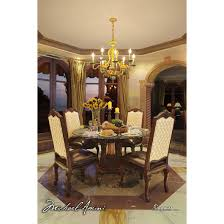 Round Glass Top Dining Room Tables by Michael Amini Victoria Palace 5pc 60