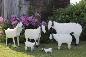 tin farm goats for yard decorations
