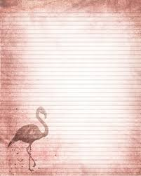 printable animal lined paper printable pink flamingo journal page flamingo stationery lined