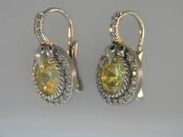 judith ripka earrings judith ripka judith ripka yellow cz thailand 925 sterling