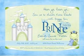 prince baby shower invitations frog prince baby shower invitation castle blue green