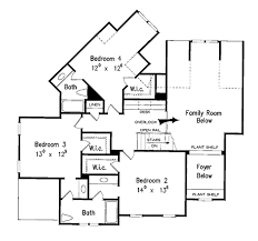upper floor plan country style house plan 4 beds 3 5 baths 3012 sq ft plan 927