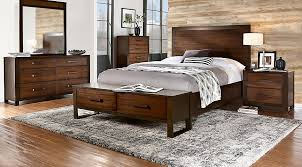 Abbott Hazelnut  Pc Queen Panel Bedroom With Storage Queen - Dark wood queen bedroom sets
