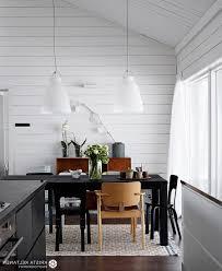 scandinavian room long kitchen table at rustic dining scandinavian room set light