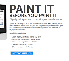 olympic paint color visualizer tool diy home pinterest