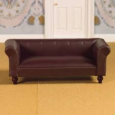 Classic Leather Sofa by The Dolls House Emporium Classic Leather Sofa