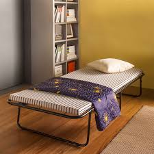 Folding Single Guest Bed Black Ikayaa Portable Small Single Folding Bed Cot With Matress