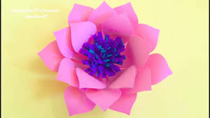 home decor craft paper lotus flower tutorial handmade