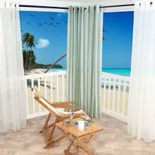 Sunbrella Curtains With Grommets by Sheer White Polyester Outdoor Curtains Dfohome