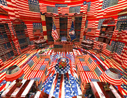 Johns Flag Picture Of The Day The Oval Office In The Style Of Jasper Johns