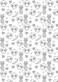 free printable monkey coloring page year of the monkey