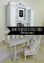 How To Build A Sofa Table by How To Build A Sofa Table