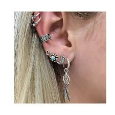 cuff earrings sparkles cuff earrings set ear crawler earring climber stud ear w
