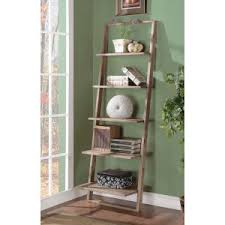 Short Ladder Bookcase Leaning U0026 Ladder Bookcases Hayneedle