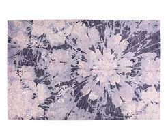 Black And Pink Rugs Contemporary Floral Burst Hand Knotted Rug In Pink And Purple 5 U00272