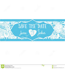 Cute Wedding Invitation Cards Cute Wedding Invitation Card With Floral Doodles Stock Vector
