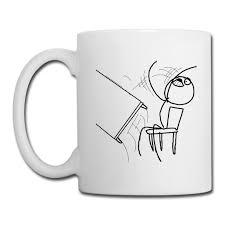 Coffee Cup Meme - niftees desk flip rage meme coffee mug coffeetea mug