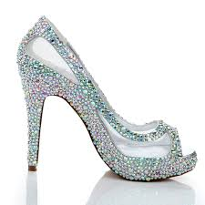 wedding shoes open toe sparkling summer women high heels rhinestone glitter ab