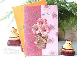 big birthday cards big size birthday gift card with vintage 3d flower stickers 8