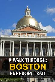 Walking Map Boston by A Walk Through History The Boston Freedom Trail Travel To Blank