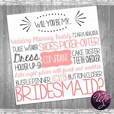 ask bridesmaids cards ask bridesmaid card cake tastin pink printable file only will