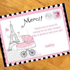 thank you card for baby shower baby shower personalized thank you note