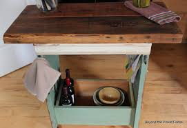 Kitchen Island Made From Reclaimed Wood by Beyond The Picket Fence Shutter Island