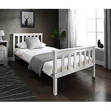 Single Beds For Adults Home Treats Single Bed In White 3ft Solid Wooden Frame For Adults
